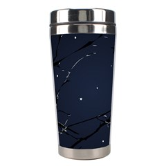 Night Birds and Full Moon Stainless Steel Travel Tumbler