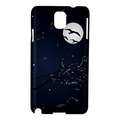 Night Birds and Full Moon Samsung Galaxy Note 3 N9005 Hardshell Case