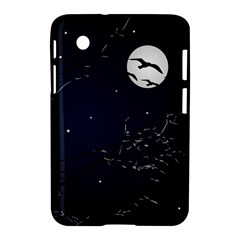 Night Birds And Full Moon Samsung Galaxy Tab 2 (7 ) P3100 Hardshell Case