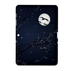 Night Birds and Full Moon Samsung Galaxy Tab 2 (10.1 ) P5100 Hardshell Case