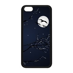 Night Birds And Full Moon Apple Iphone 5c Seamless Case (black)