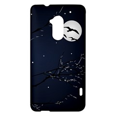 Night Birds and Full Moon HTC One Max (T6) Hardshell Case