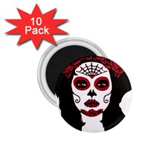 Day Of The Dead 1.75  Button Magnet (10 pack)