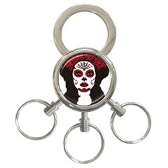Day Of The Dead 3-Ring Key Chain