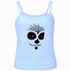 Day Of The Dead Baby Blue Spaghetti Tank