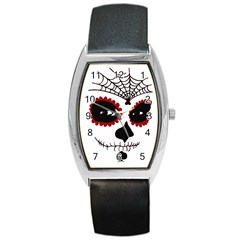 Day Of The Dead Tonneau Leather Watch