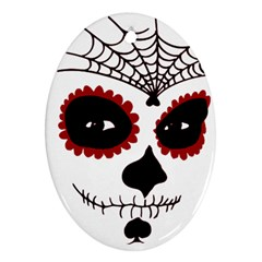 Day Of The Dead Oval Ornament (Two Sides)