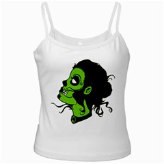 Day Of The Dead White Spaghetti Tank