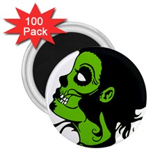 Day Of The Dead 2.25  Button Magnet (100 pack)