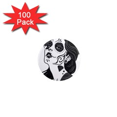 Day Of The Dead 1  Mini Button Magnet (100 pack)