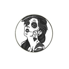 Day Of The Dead Golf Ball Marker 4 Pack (for Hat Clip)