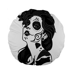 Day Of The Dead 15  Premium Round Cushion