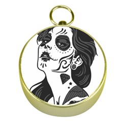 Day Of The Dead Gold Compass