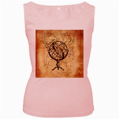 Discover The World Women s Tank Top (Pink)