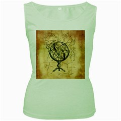 Discover The World Women s Tank Top (Green)