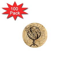 Discover The World 1  Mini Button Magnet (100 Pack)