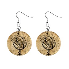 Discover The World Mini Button Earrings