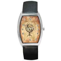 Discover The World Tonneau Leather Watch