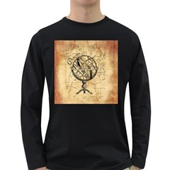 Discover The World Men s Long Sleeve T-shirt (Dark Colored)