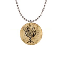 Discover The World Button Necklace