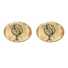 Discover The World Cufflinks (oval)