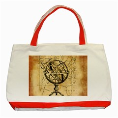 Discover The World Classic Tote Bag (Red)