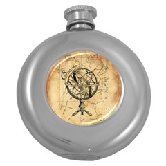 Discover The World Hip Flask (round)