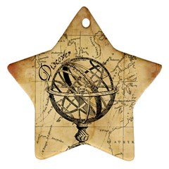 Discover The World Star Ornament (Two Sides)