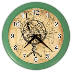 Discover The World Wall Clock (Color)