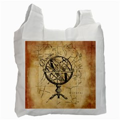 Discover The World White Reusable Bag (One Side)