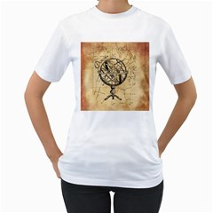 Discover The World Women s T Shirt (white)