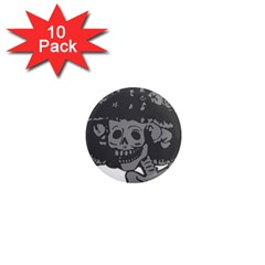 Day Of The Dead 1  Mini Button Magnet (10 pack)