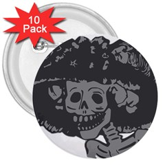 Day Of The Dead 3  Button (10 pack)
