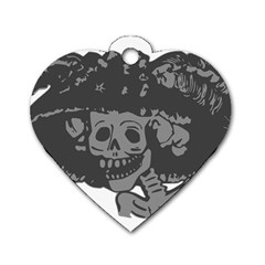 Day Of The Dead Dog Tag Heart (Two Sided)