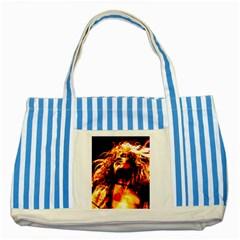 Golden God Blue Striped Tote Bag