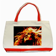Golden God Classic Tote Bag (red)