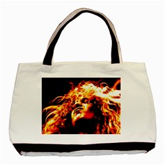 Golden God Twin-sided Black Tote Bag