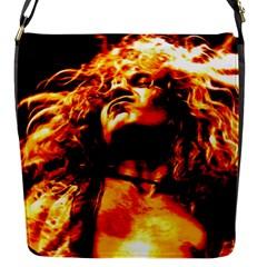 Golden God Flap Closure Messenger Bag (Small)