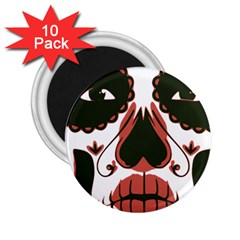Day Of The Dead 2.25  Button Magnet (10 pack)