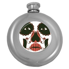 Day Of The Dead Hip Flask (Round)