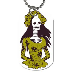 Day Of The Dead Dog Tag (One Sided)
