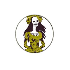 Day Of The Dead Golf Ball Marker (for Hat Clip)