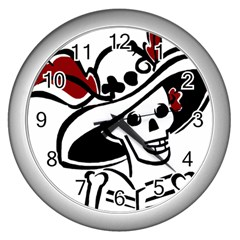 Day Of The Dead Wall Clock (Silver)