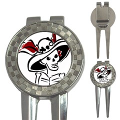 Day Of The Dead Golf Pitchfork & Ball Marker