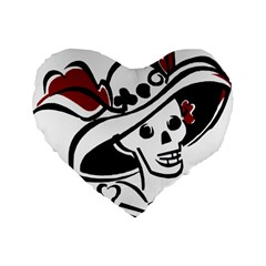 Day Of The Dead 16  Premium Heart Shape Cushion