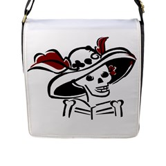 Day Of The Dead Flap Closure Messenger Bag (Large)