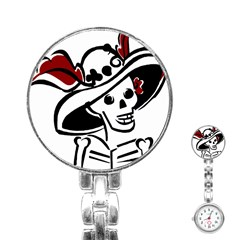 Day Of The Dead Stainless Steel Nurses Watch