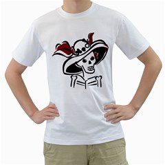 Day Of The Dead Men s T-Shirt (White)