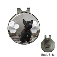 French Bulldog Hat Clip With Golf Ball Marker