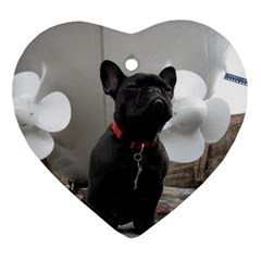 French Bulldog Heart Ornament (Two Sides)